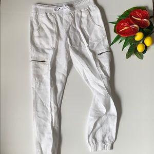 Athleta White Linen Pants